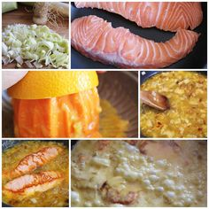 Salmon a la naranja pasos