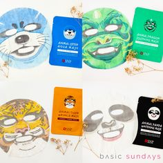 SNP ANIMAL MASKS | are you a big fan of coconut water? Each mask contains 750mg of coconut water, a mixture of 50% natural coconut juice and 50% coconut water. Otter: Restores skin balance and protects it while providing energy. Dragon: Heals and calms damaged skin whilst restoring moisture/sebum balance. Tiger: Improves wrinkles and boosts elasticity. Panda: Brightens skin tone. So which animal do you wanna be? - $39.99CAD for each pack (10pcs/pack), use BASIC10 for 10% off xx