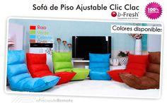 Sofá de suelo con sistema Clic-Clac Japonés ideal para ver TV y jugar videojuegos decorativo y novedoso