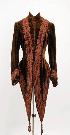 Jacket, ca.1888 (I like the cut and shape of this jacket. So-so on the braided design).