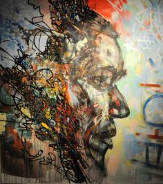 One of series of portraits painted by David Choe for the Barack Obama's presidential election campaign.