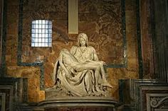The Pieta by Leonardo da Vinci  in St Peter's basilica, Rome