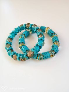 "Handmade in USA 1 1//4/"" Bright Multi-Color Blue Genuine Python Cuff Bracelet"
