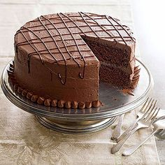 Devil's Food Cake Enticingly airy, devil's food cake is a chocolate-lover's dream. The sinful dessert is richer, darker, and fluffier than its traditional chocolate cake counterpart, thanks to a dollop of shortening, extra dose of baking soda, and sprinkling of cocoa powder.