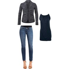 """""""Mingle Jacket, Ruby Jean and 5th Ave Tee"""" smart and sassy! http://jamiefox.cabionline.com"""