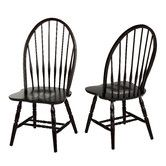 Found it at Wayfair - Windsor Side Chair.  To go around the farm table in the kitchen.
