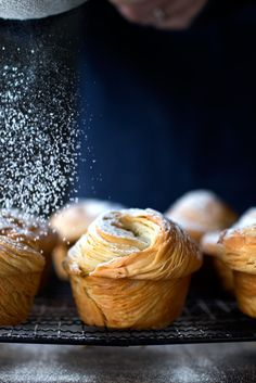 Golden, flakey, buttery cruffins - muffins made with croissant dough! Croissant Sandwich, Croissant Brioche, Croissant Dough, Bakery Recipes, Bread Recipes, Cooking Recipes, Croissants, Cruffin Recipe, Cronut