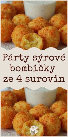 Párty sýrové bombičky ze 4 surovin #bombičky #sýrové Best Bread Recipe, Bread Recipes, Cooking Recipes, Easy Dinner Recipes, Easy Meals, Food Platters, Party Snacks, Keto Dinner, Tapas