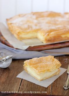 Polish Vanilla Slice via butterbaking.word... ... looks bakery worthy
