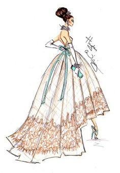 Hayden Williams fashion illustration sketch #bocetos #vestidos #moda