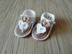 Crochet Baby Sandals Baby Sandals Tan Beige by SandrasCrochets