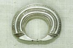 Large, Heavy Antique Silver Fulani Ring