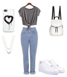 """""""Leh"""" by naima-bandele ❤ liked on Polyvore featuring The Ragged Priest, NIKE, rag & bone, Zero Gravity and Michael Kors"""