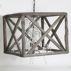 Wonderful Wooden/metal ceiling #lamp Discover more ceiling lightnings at http://www.inart.com/en/products/lightings/ceiling