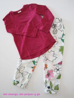 mis nancys, mis peques y yo, pantalón fluido para niñas, pantalón pijama con camiseta