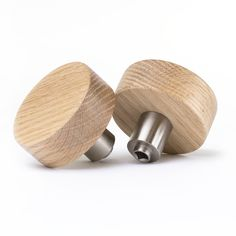 interior and exterior modern door knobs made from solid oak and sealed