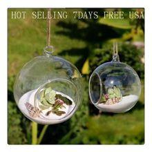 8 pieceS DIA 8 CM perambulando terrários de vidro planta de ar bolha bolas de cristal flor teto globo vaso para o casamento decorações(China (Mainland))