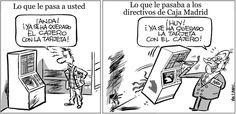 Una docena de viñetas para denunciar el escándalo de las Tarjetas Black de Caja Madrid