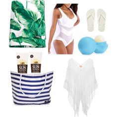 beach by kclinkscale on Polyvore featuring Lipsy, Havaianas, Eos, Lavanila and H&M