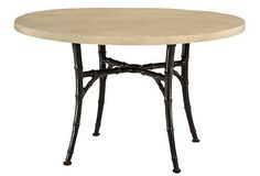 """Bamboo Round Dining Table, Slate (60"""" Diameter x 29.5""""H)"""