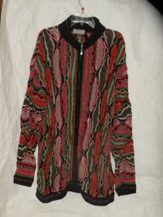 Coogi Sweater Jacket Multi Color Chains Size XXL New w Tags Say $425 Zips Down   eBay