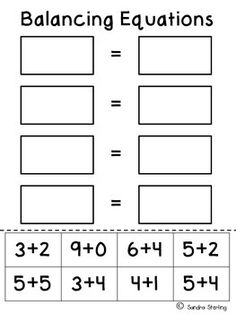 This product is one worksheet to be used to practice equivalency or balancing equations in mathematics Students can cut and paste the addition facts that are equal to one. Math Addition, Addition Facts, Addition Worksheets, Math Worksheets, Teaching First Grade, Teaching Math, Second Grade Math, Grade 1, Third Grade