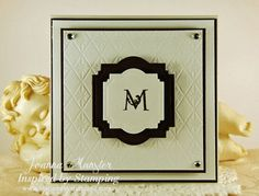 Inspired by Stamping, Joanna Munster, Fancy Alphabet stamp set, wedding card, monogram card