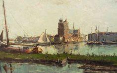 Willem Horselenberg - Gezicht op Dordrecht
