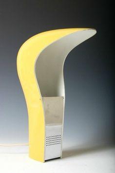 Cesare Casati and C. Emanuele Ponzio; ABS Plastic and Chromed Metal 'Pelota' Table Lamp for Lamperti, 1971.