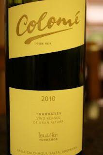 2010 Colomé Torrontés - Refreshing, Crisp and Delicious. $12