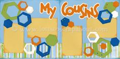 scrapbook layout for cousins
