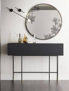 Contemporary console tables are essential to design pieces in any modern interior. This modern furniture is often found in entryways and hallways. Cool Furniture, Furniture Design, Modern Furniture, Living Room Designs, Living Spaces, Modern Console Tables, Beautiful Living Rooms, Home Interior Design, Modern Interior