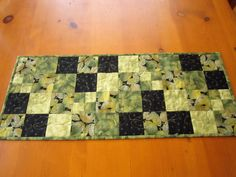 Quilted Table Runner Green