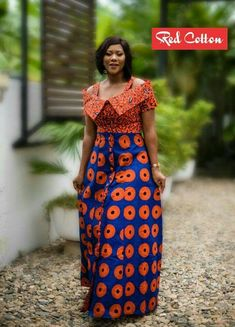 The Most Beautiful Ankara Gown Styles of 2018 African Maxi Dresses, Latest African Fashion Dresses, African Dresses For Women, African Print Fashion, Africa Fashion, African Attire, African Wear, Beautiful Ankara Gowns, Ankara Gown Styles