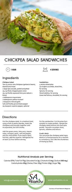 Lunch Hour is the Best Hour! Try our Healthy Lunch Recipes now for a better and healthier lifestyle. Chickpea Salad Sandwich, Lunch Recipes, Lettuce, Sprouts, Cucumber, Healthy Lifestyle, Vitamins, Sandwiches, Nutrition