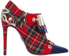 Cesare Paciotti Tartan Ankle Boots €835 Spring 2015 #Shoes #Heels