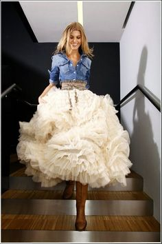 Denim & Tulle for a truly Western Bride