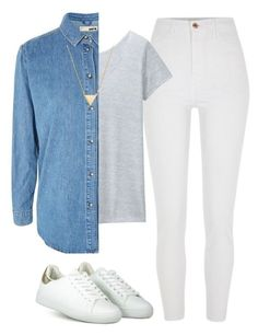 """""""#278"""" by mintgreenb on Polyvore featuring River Island, Uniqlo, Topshop and BaubleBar Emo Outfits, Sporty Outfits, College Outfits, Teen Fashion Outfits, Cute Casual Outfits, Simple Outfits, Outfits For Teens, Tomboy Fashion, Fashion Pants"""