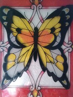 Butterfly Stained Glass; I have ideas for some stained glass in our little house...this is giving me more ideas!