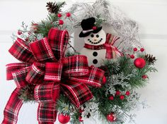 Hey, I found this really awesome Etsy listing at https://www.etsy.com/il-en/listing/465804774/christmas-wreath-snowman-holiday-wreath