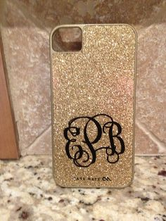 "2"" Monogram for phone. $2.25, via Etsy. @Dawn Cameron-Hollyer Johnson #christmas"