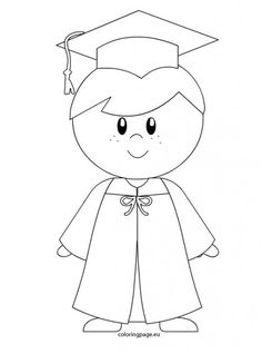 Kindergarten boy graduation coloring page Graduation Crafts, Kindergarten Graduation, Graduation Decorations, High School Graduation, Graduation Templates, Kindergarten Activities, Preschool Activities, Graduation Pictures, Free Coloring Pages