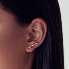 Mini Wave Earrings- These sweet earrings from Upper Metal Class are just the right amount of funky. moooreaseal.com