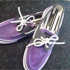 Purple sperrys(: