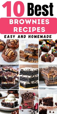 Brownie Recipe With Cocoa, Fudgy Brownie Recipe, Brownie Desserts, Brownie Recipes, Easy Desserts, Cookie Recipes, Delicious Desserts, Yummy Food, Cocoa Powder Recipes