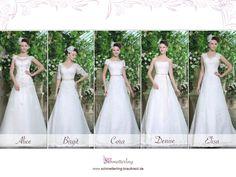 Wir haben viele neue Brautkleider im Angebot. Hier ein paar Beispiele. Welches gefällt Euch am Besten?  ► https://schmetterling-brautkleid.de/brautkleider-nach-mass