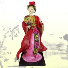 Chinese doll in traditional dress
