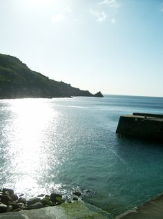 Morning Sun Lamorna Cove Cornwall UK CHG