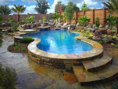 A natural stone pool would be an AWESOME way to beat the heat in the warm climate I hope to one day enjoy.