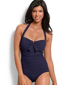 Tommy Bahama - Pearl V-Front Halter One-Piece Swimsuit